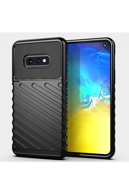eng pl Thunder Case Flexible Tough Rugged Cover TPU Case for Samsung Galaxy S10e black 56350 1