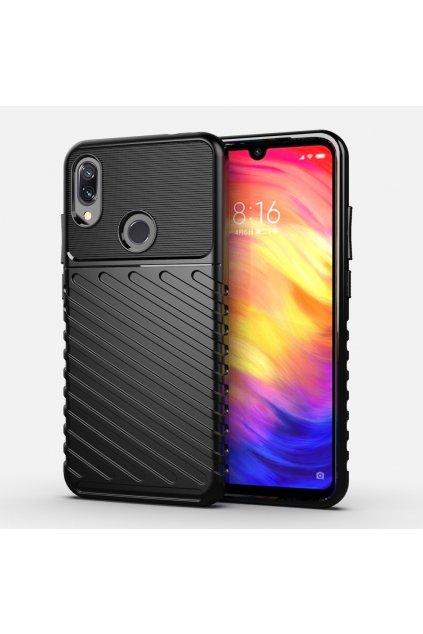 eng pl Thunder Case Flexible Tough Rugged Cover TPU Case for Xiaomi Redmi Note 7 black 56382 1