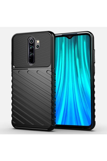 eng pl Thunder Case Flexible Tough Rugged Cover TPU Case for Xiaomi Redmi Note 8 Pro black 56372 1