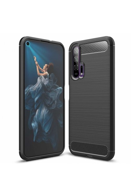 eng pl Carbon Case Flexible Cover TPU Case for Huawei Honor 20 20 Pro black 51827 1