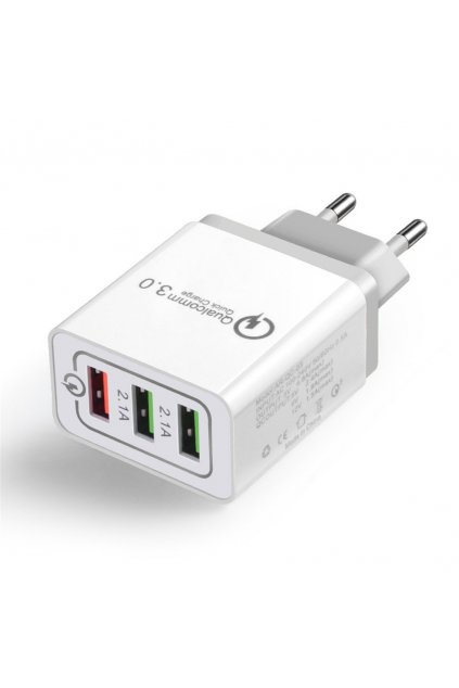 eng pl Wozinsky fast wall charger adapter Quick Charge QC 3 0 3x USB 30W white WWC 01 57032 1