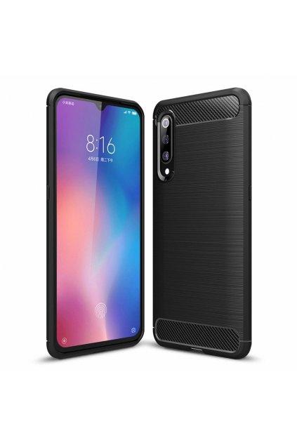 eng pl Carbon Case Flexible Cover TPU Case for Xiaomi Mi 9 SE black 50778 1
