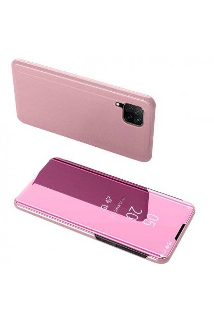 pol pl Clear View Case futeral etui z klapka Huawei P40 Lite Nova 7i Nova 6 SE rozowy 59619 1