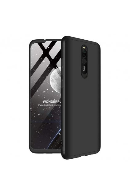 eng pl GKK 360 Protection Case Front and Back Case Full Body Cover Xiaomi Redmi 8 black 55531 1