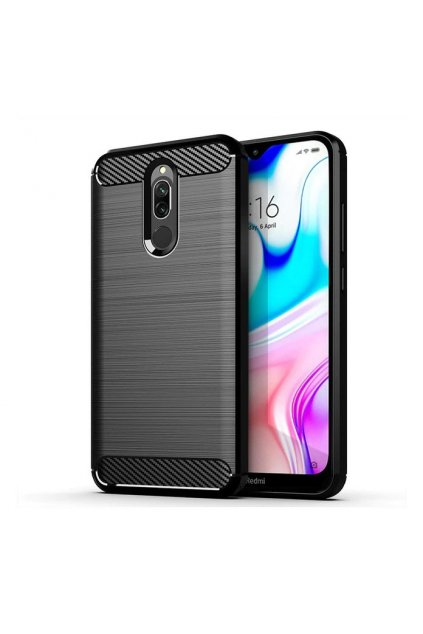 eng pl Carbon Case Flexible Cover TPU Case for Xiaomi Redmi 8 black 55234 1