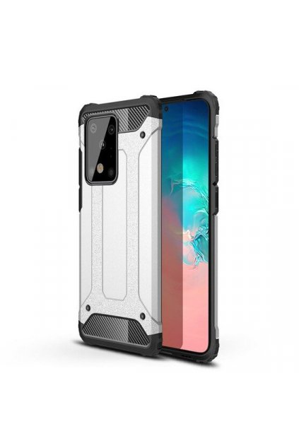 eng pl Hybrid Armor Case Tough Rugged Cover for Samsung Galaxy S20 Plus silver 56264 1