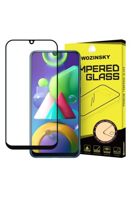 eng pl Wozinsky Tempered Glass Full Glue Super Tough Screen Protector Full Coveraged with Frame Case Friendly for Samsung Galaxy M21 black 59911 1