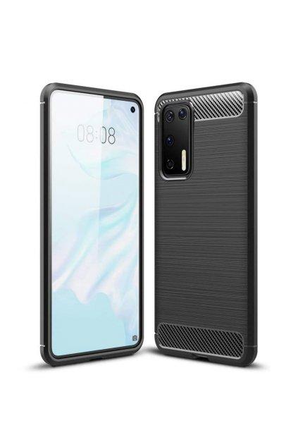 eng pl Carbon Case Flexible Cover TPU Case for Huawei P40 black 59741 1