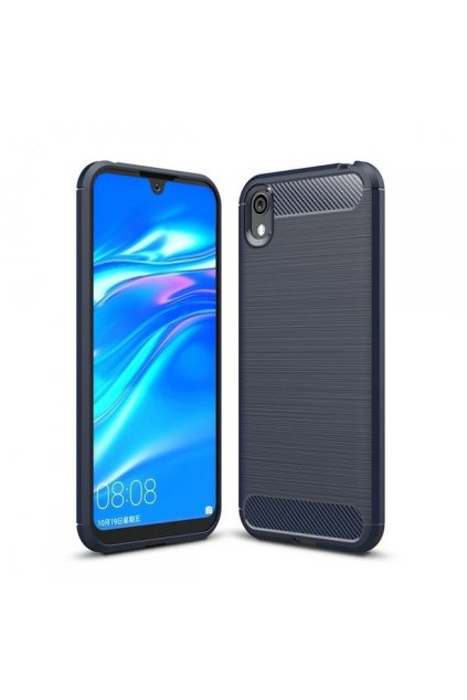 pol pl Carbon Case elastyczne etui pokrowiec Huawei Y5 2019 Honor 8S niebieski 51401 1