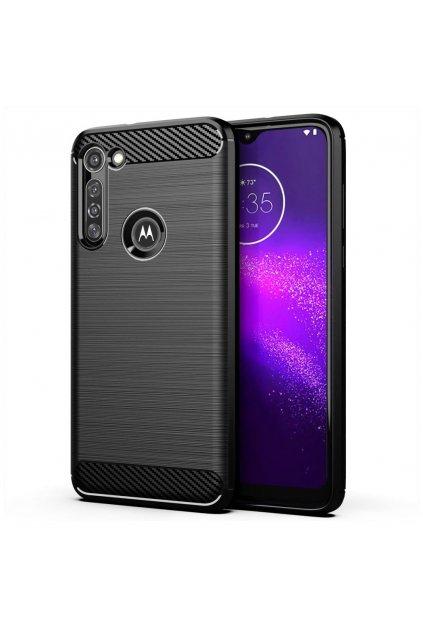 eng pl Carbon Case Flexible Cover TPU Case for Motorola Moto G8 Power black 59423 1