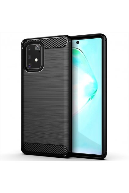 eng pl Carbon Case Flexible Cover TPU Case for Samsung Galaxy S10 Lite black 58676 1