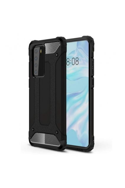 eng pm Hybrid Armor Case Tough Rugged Cover for Huawei P40 black 60006 1
