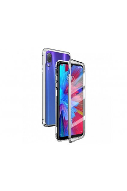 Magnetický obojstranný kryt na iPhone SE 2020 / iPhone 8 / iPhone 7 (bez predného tvrdeného skla) - strieborný