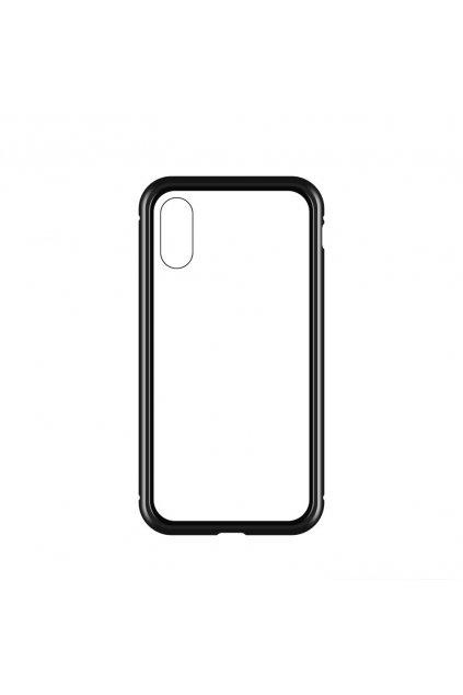29594 magneticky oboustranny kryt na iphone xs max bez tvrzeneho skla cerny