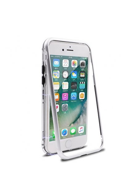 iphone 7 case iphone 8 case diaxbest ultra slim magnetic adsorption metal case hard clear tempered g 41cvl6cqO L