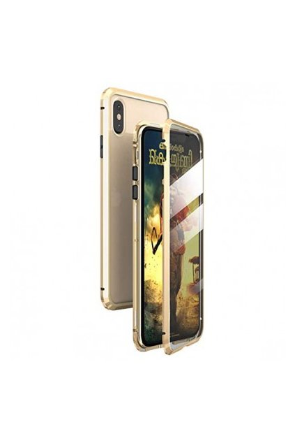 iphone xs magnetic case gold 016llq