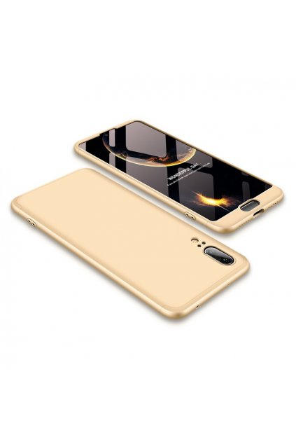 eng pl 360 Protection Front and Back Case Full Body Cover Huawei P20 golden 39572 1