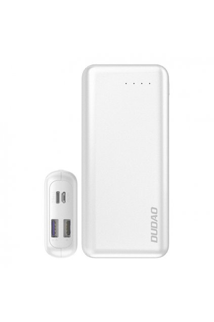 eng pl Dudao 2x USB power bank 20000mAh Power Delivery Quick Charge 4 0 3 7A 45W white K12PRO white 56506 1