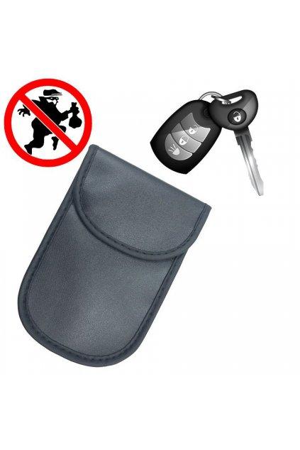 eng pl Vertical Signal blocking chest Radio blocking Faraday case for car keys 14 cm x 10 cm black 61882 6