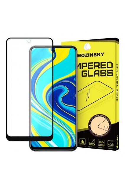 eng pl Wozinsky Tempered Glass Full Glue Super Tough Screen Protector Full Coveraged with Frame Case Friendly for Xiaomi Redmi Note 9 Pro Redmi Note 9S Poco X3 NFC black 59628 1