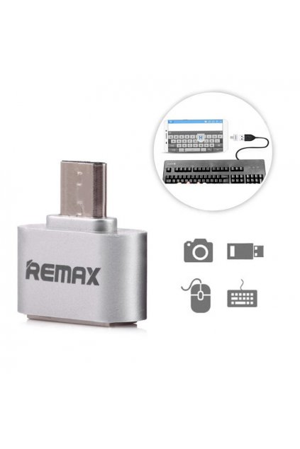 eng pl USB OTG adapter Remax silver 9085 1