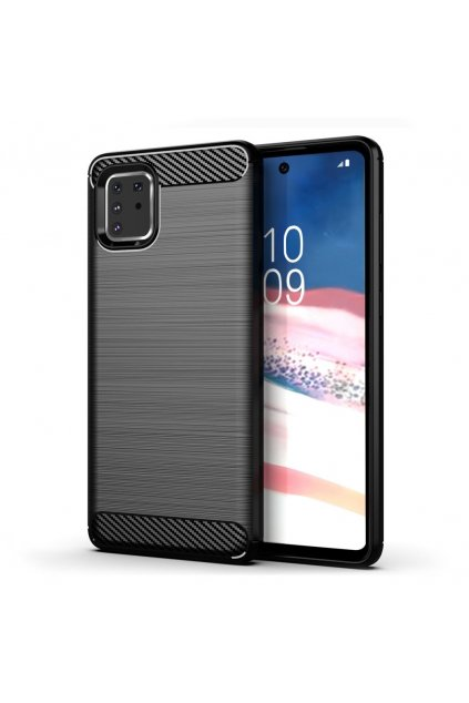 eng pl Carbon Case Flexible Cover TPU Case for Samsung Galaxy Note 10 Lite black 58673 1