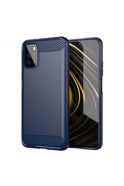 eng pl Carbon Case Flexible Cover TPU Case for Xiaomi Poco M3 Xiaomi Redmi 9T blue 67637 10
