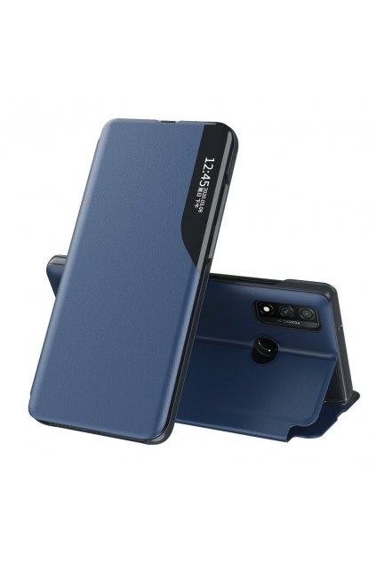 eng pl Eco Leather View Case elegant bookcase type case with kickstand for Huawei P Smart 2021 blue 66104 1
