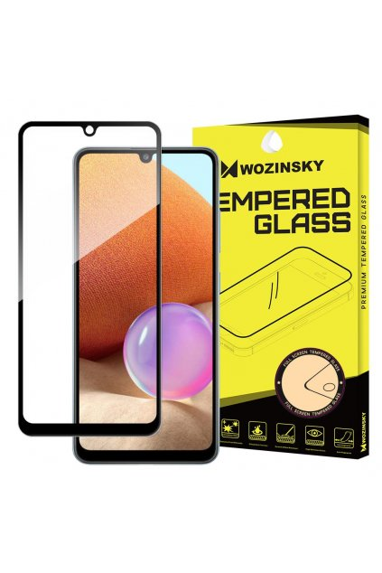 eng pl Wozinsky Tempered Glass Full Glue Super Tough Screen Protector Full Coveraged with Frame Case Friendly for Samsung Galaxy A32 4G black 70404 1