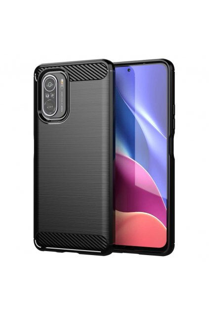 pol pl Carbon Case elastyczne etui pokrowiec Xiaomi Poco F3 czarny 72176 1