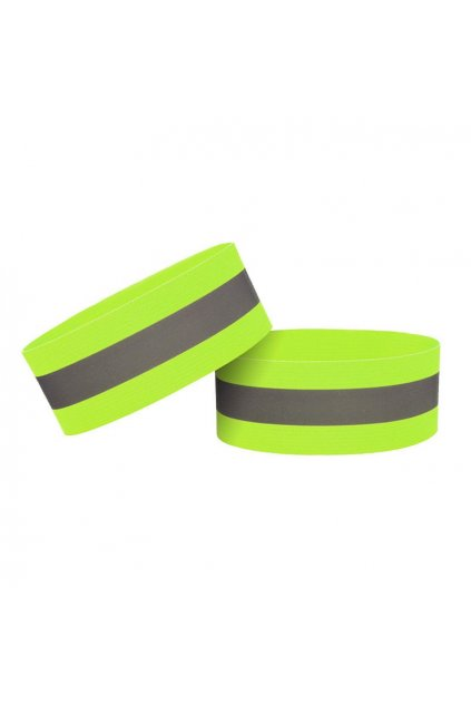 eng pl Reflective strap armband for bike running jogging velcro 4cm yellow 69191 1
