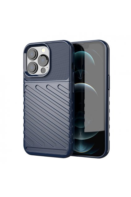 eng pl Thunder Case Flexible Tough Rugged Cover TPU Case for iPhone 13 Pro blue 74323 1