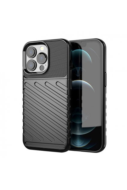 eng pl Thunder Case Flexible Tough Rugged Cover TPU Case for iPhone 13 Pro black 74324 1