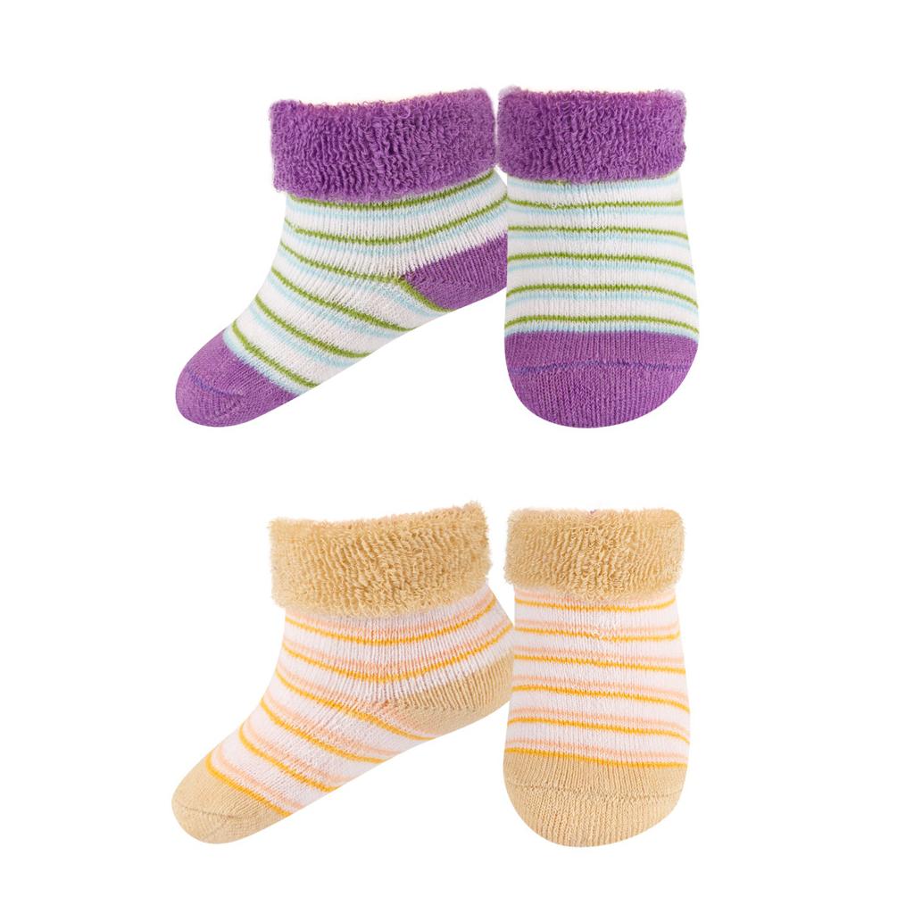 Kojenecké froté ponožky SOXO 2 páry fialové