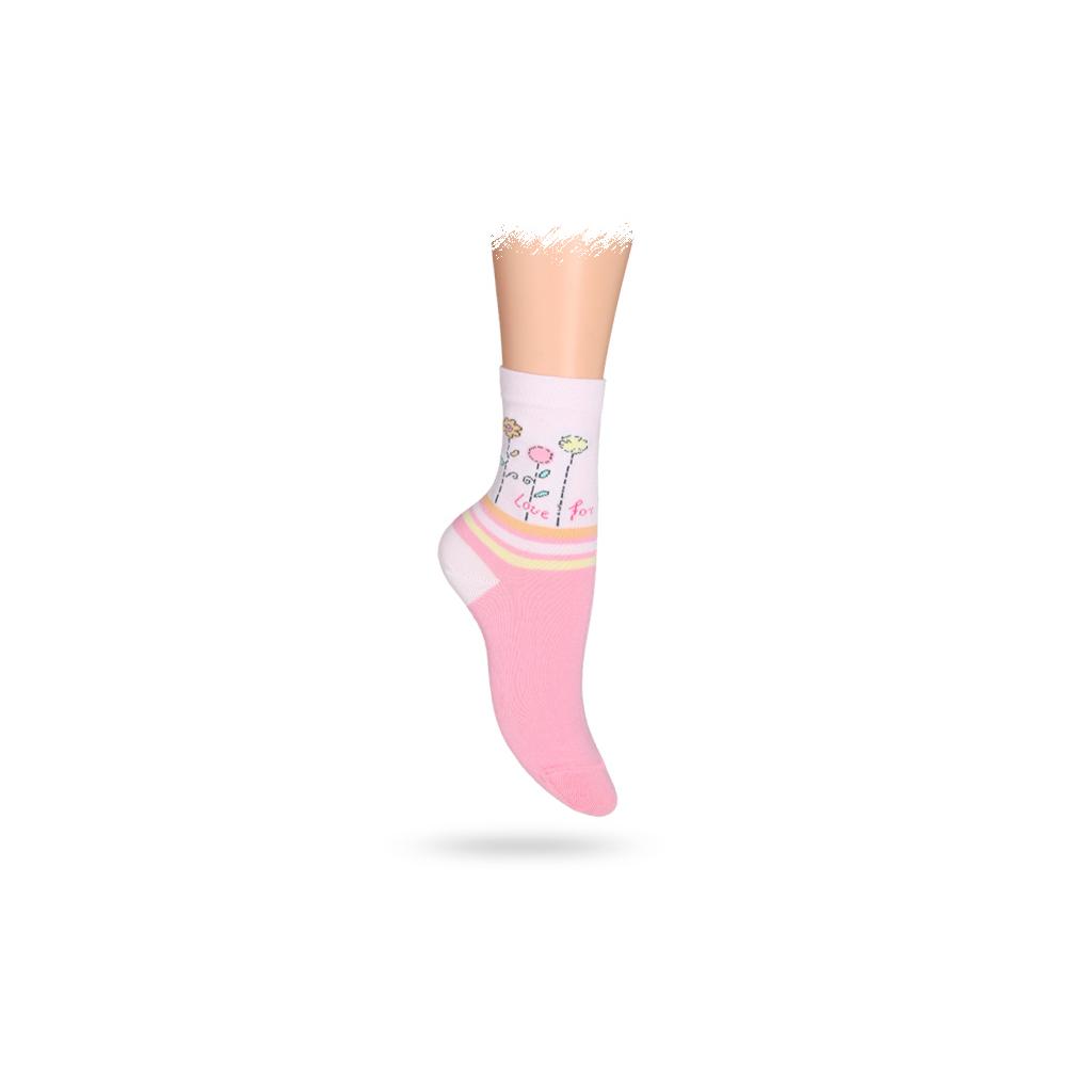 Dětské vzorované ABS ponožky WOLA KYTIČKY