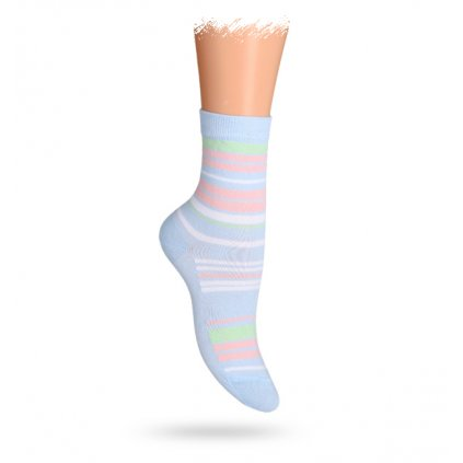 Dětské vzorované ABS ponožky WOLA PROUŽKY