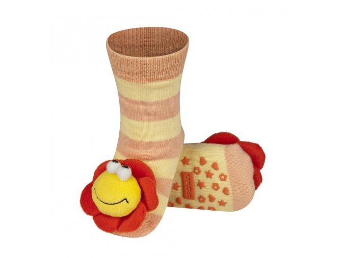 Dětské chrastítkové ponožky SOXO KYTIČKA