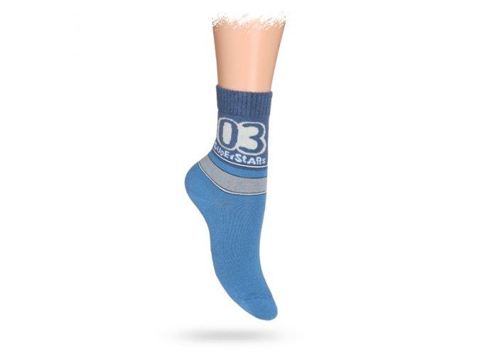 Dětské vzorované ABS ponožky WOLA SUPER STAR