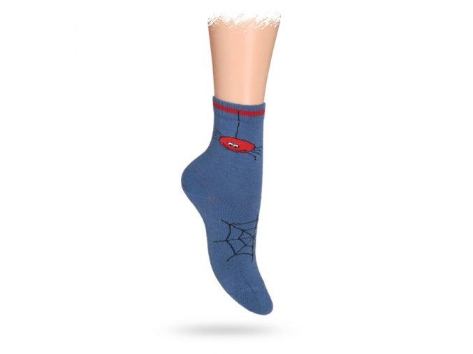 Dětské vzorované ABS ponožky WOLA PAVUČINA