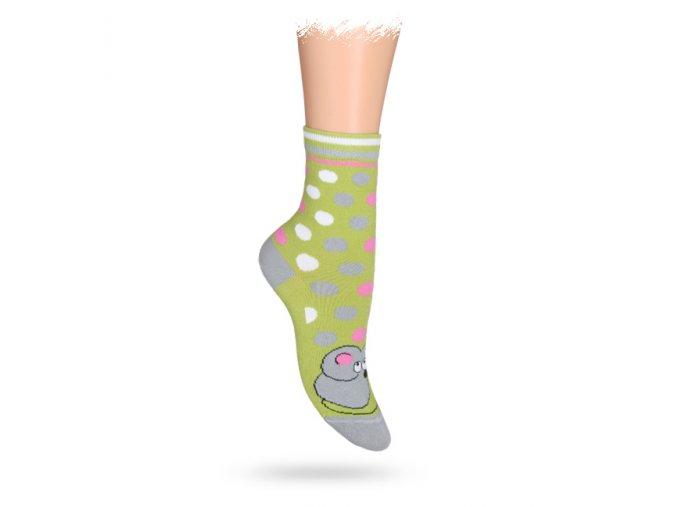 Dětské vzorované ABS ponožky WOLA MYŠKA