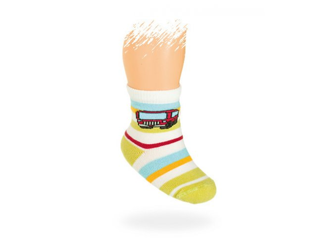 Kojenecké vzorované ponožky WOLA
