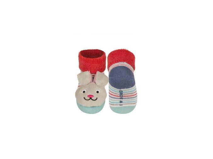 Kojenecké chrastítkové ponožky SOXO ZAJÍC