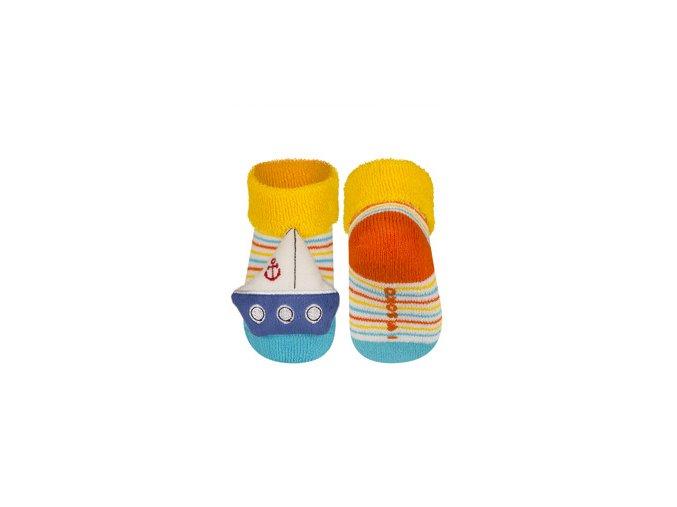 Kojenecké chrastítkové ponožky SOXO LOĎKA