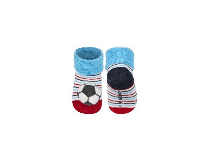 Kojenecké chrastítkové ponožky SOXO MÍČ