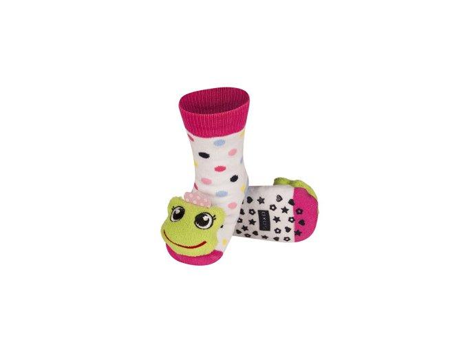 Dětské chrastítkové ponožky SOXO ŽABKA