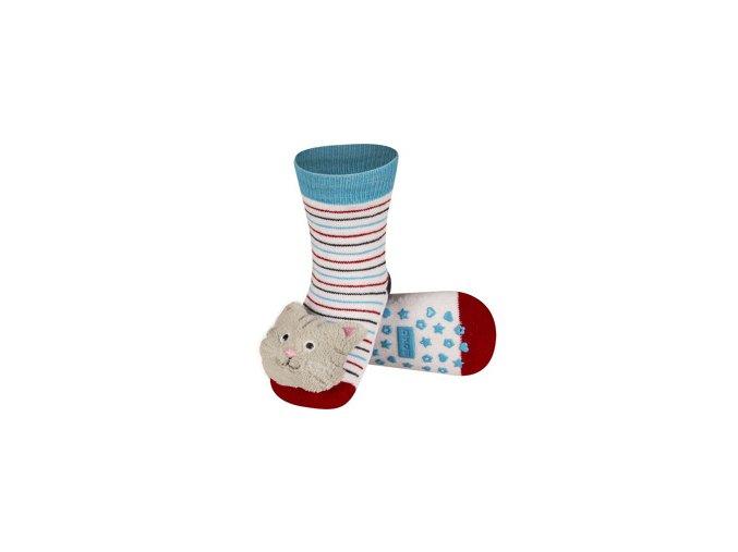 Dětské chrastítkové ponožky SOXO KOČKA
