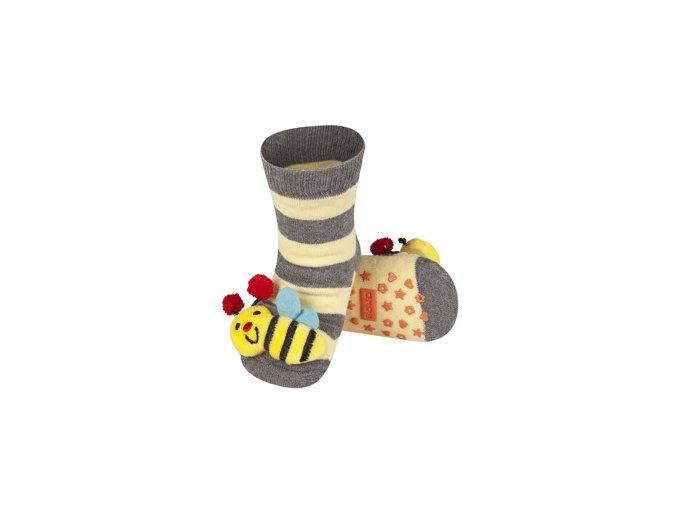 Dětské chrastítkové ponožky SOXO VČELKA