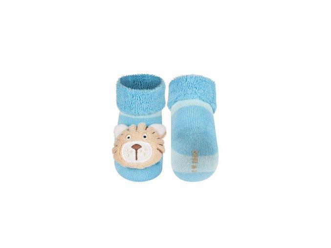 Kojenecké chrastítkové ponožky SOXO TYGŘÍK