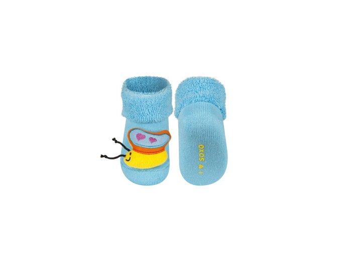 Kojenecké chrastítkové ponožky SOXO MOTÝLEK