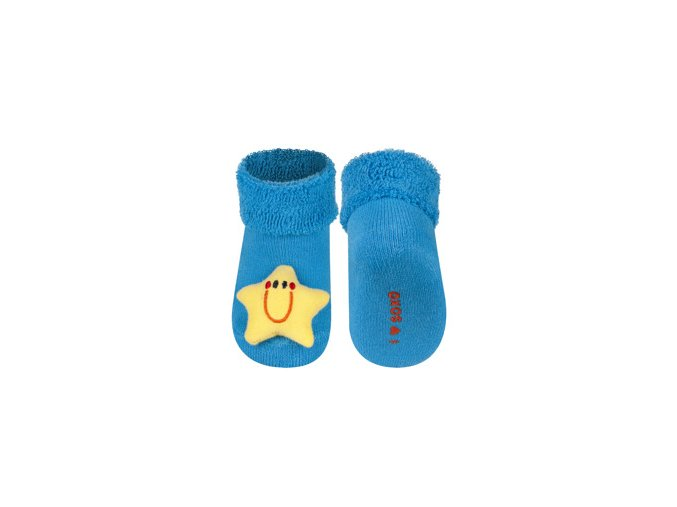 Kojenecké chrastítkové ponožky SOXO HVĚZDIČKA